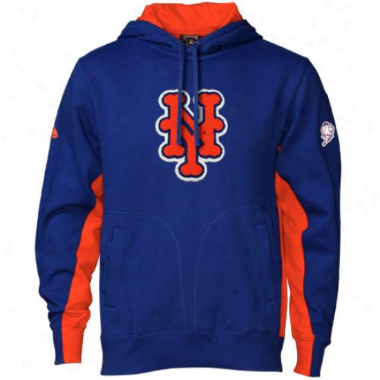 New York Mets Hoodys : Majestic New York Mets Royal Blue Pure V2 Hlodys