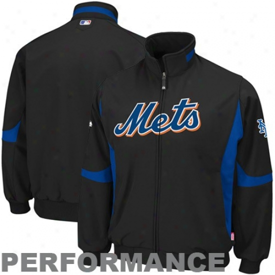Repaired York Mets Jackets : Majestic New York Mets  Black Therma Base Premier Elevation Performance Jackets