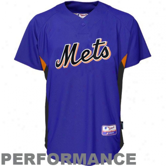 New York Mets Jersey : August Starting a~ York Mets Royal Blue Bayting Practice Baseball Jersey