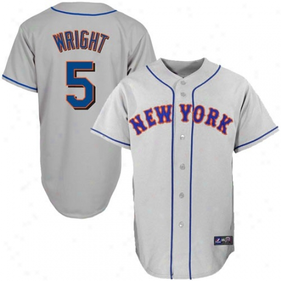 New York Mets Jerseys : Majestic David Wright New York Mets Replica Jersey-gray