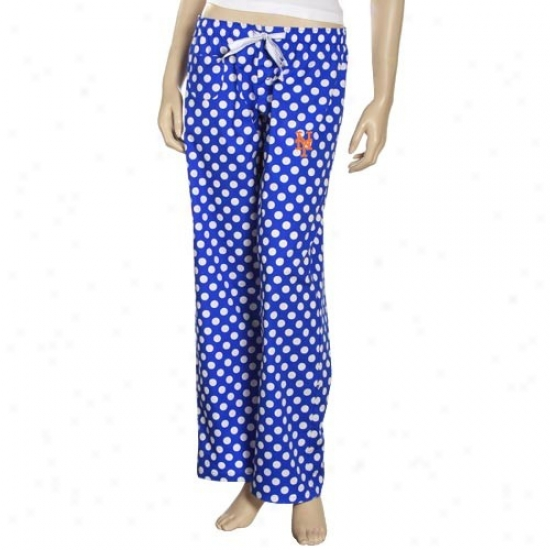 New York Mets Ladies Royal Blue Galaxy Pajama Pants