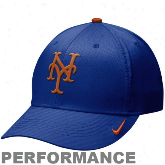 New York Mets Merchandise: Nike New York Mets Kingly Blue Practice Dri-fit Perormance Adjustable Hat