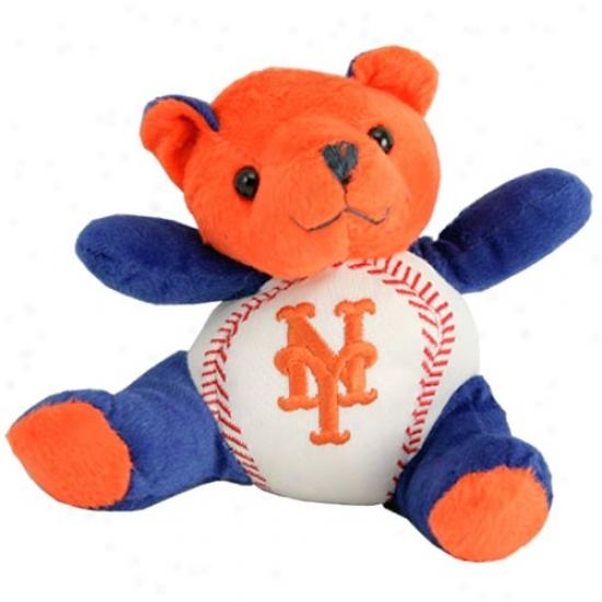 New York Mets Plush Team Colors Baseball Bear