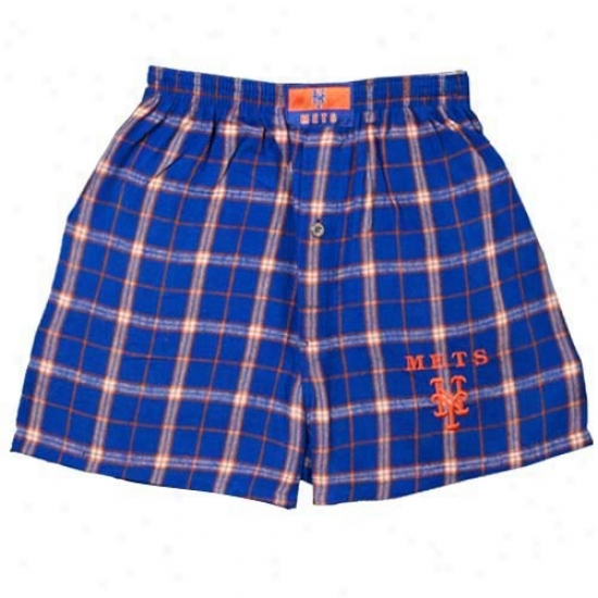 New Y0rk Mets Royal Blue Cross Boxer Shorts
