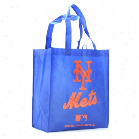 Recent York Mets Royal Azure Reusable Tote Bag