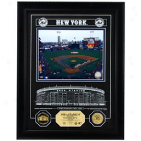 New York Mets Shea Stadium Archival Etched Glass Photomint