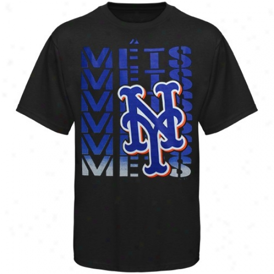 New York Mets Shirt : Majestic New York Mets Black Game Open Shirt