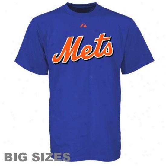 New York Mets Shirt : New York Mets Royal Blue Big Sizes Wordmark Shirt