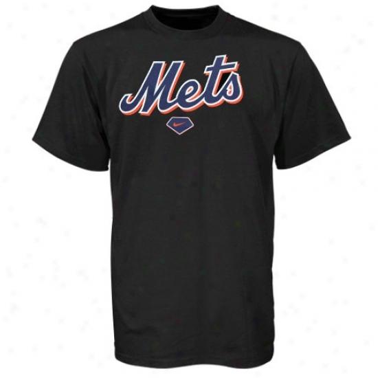 New York Mets Shirt : Nike New York Mets Youth Black Practjce Shirt