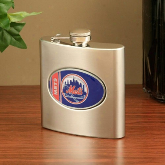 New York Mets Stainless Steel Flask