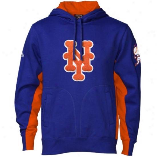 New York Mets Stuff: Majestic New York Mets Royal Blue Cioperstown The V Hoody Sweatshirt