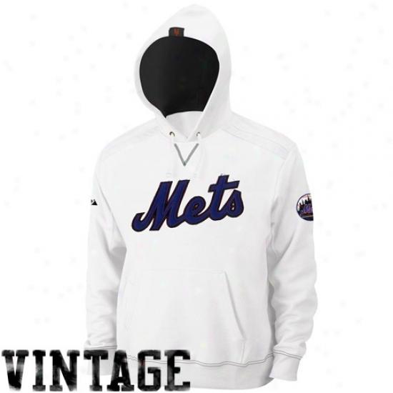 New York Mets Stuff: Majestic New York Mets White Conquest Hoody Sweatshirt