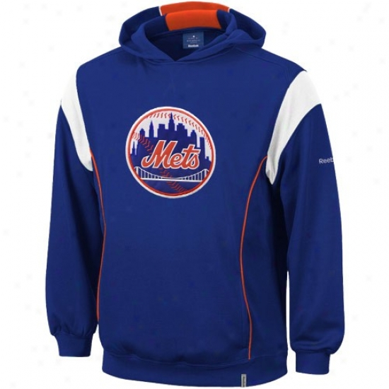 New York Mets Sweat Shirt : Reebok New York Mets Royal Blue Shiwwboat Sweat Shirt