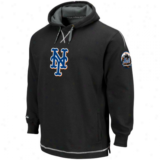 New York Mets Sweat Shirts : Majestic New York Mets Black The Liberation Pullover Sweat Sihrts