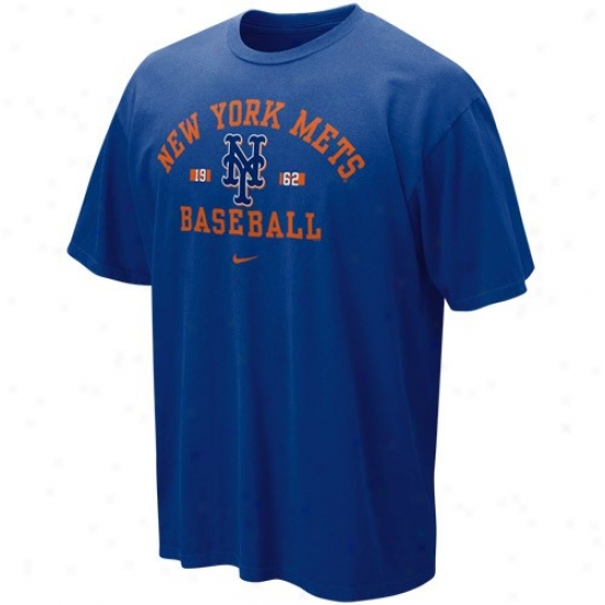 New York Mets T Shirt : Nike New York Mets Royal Blue Safety Squeeze T Shirt