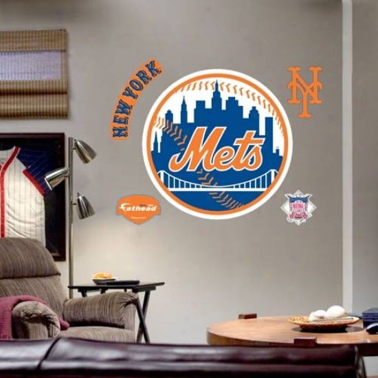 New York Mets Team Logo Fathead Wall Sticker