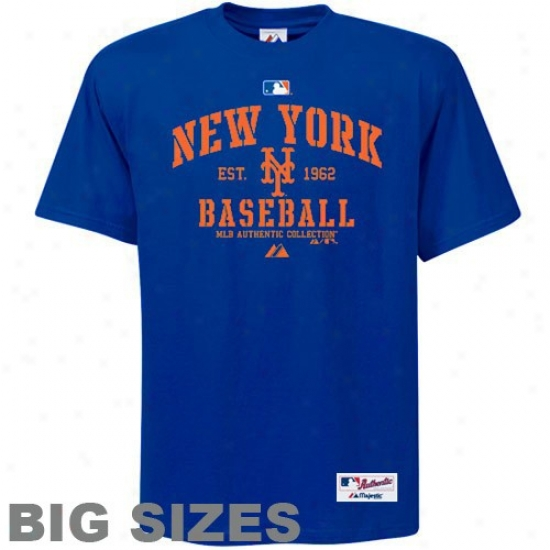 Novel York Mets Tee : Majestic New York Mets Royal Blue Ac Classic Pregnant Sizes Tee