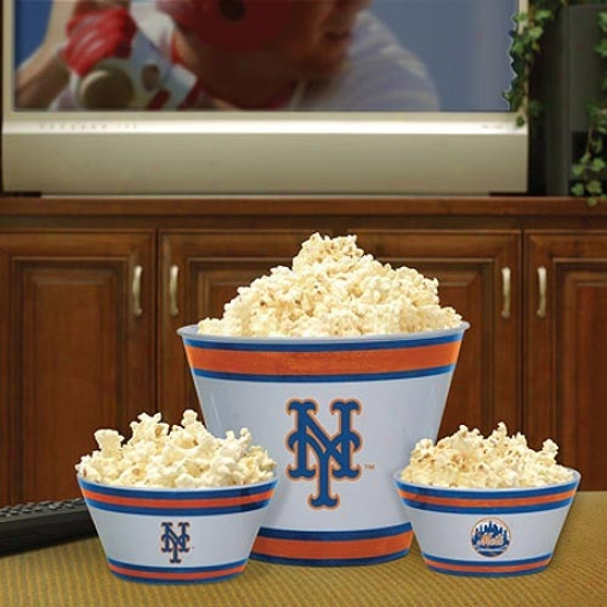 New York Mets Three-piece Melamine Serving Stud