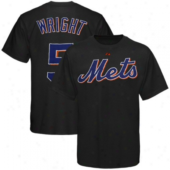 Just discovered York Mets Tshirt : Majestic New York Mets #5 David Wright Black Applique Rate above par Tshirt