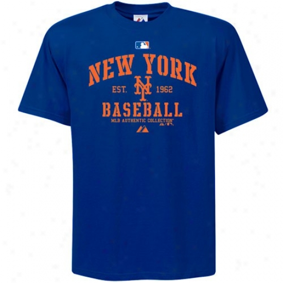 New York Mets Tshirts : Majestic New Ykrk Mets Youth Royal Blue Ac Classic Tshirts