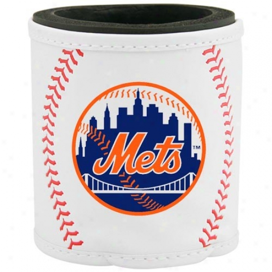 New York Mets White Baseball Can Coolie