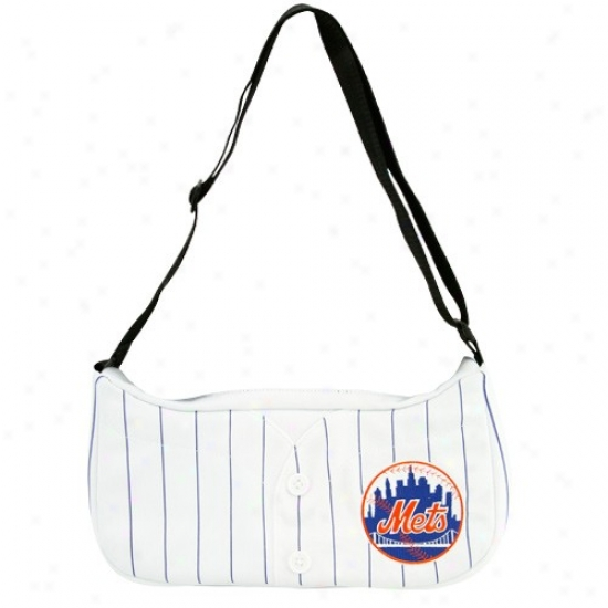 New York Mets White Pinstripe Baseball Jersey Purse