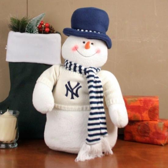 Recent York Yankees 18'' Plush Snowman