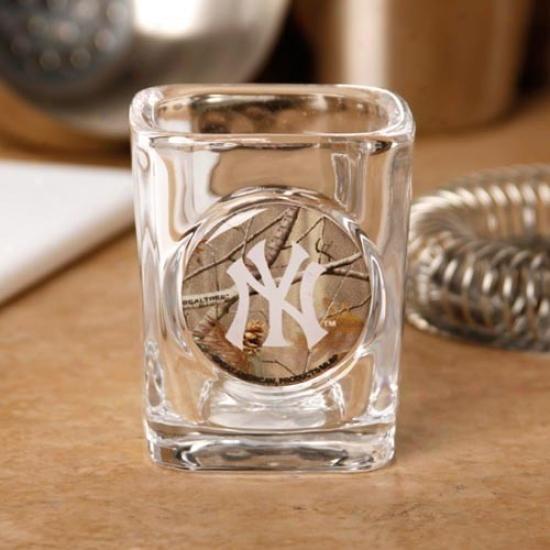 New York Yankees 2 Oz. Realtree Camo Shot Glass