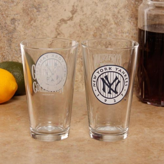New York Yankees 2-pack 16oz. Cooperstosn Glasses