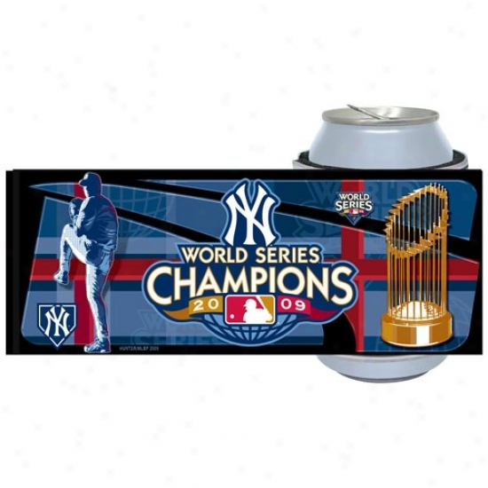 New York Yankees 2009 World Series Champions Navy Blue Slap Wrap Can Coolie