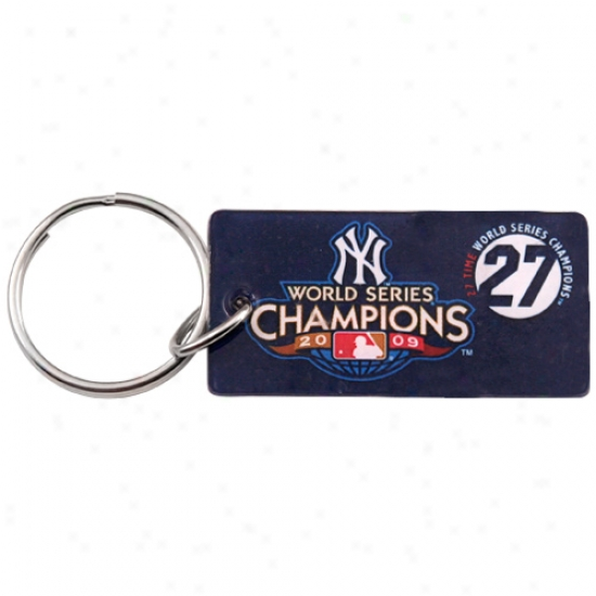 New York Yankees 2009 World Series Champions Plastic Keychain