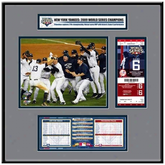 New York Yankees 2009 Wold Series Champions Replica Ticket Frame
