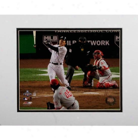 """""""new York Yankees 2009 World Series Champions Game 6 Hideki Matsui's Game 6 2-run Home Run 11"""""""" X 14"""""""" Matted Photo"""""""