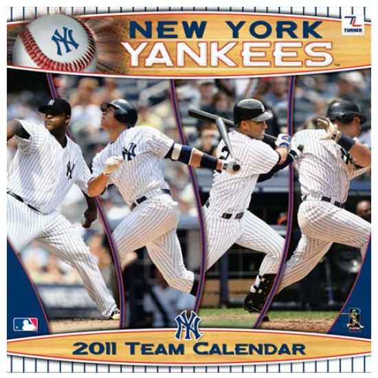 New York Yankees 2011 Wall Calendar