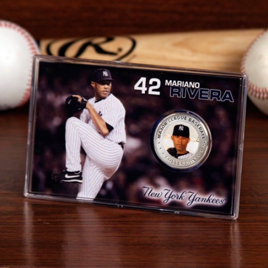 New York Yankees #42 aMriano Rivera Gentle Plate Coin Card