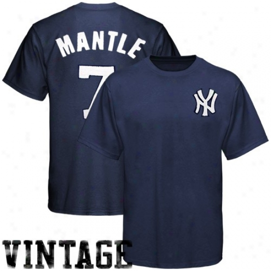 mickey mantle wallpaper. New York Yankees Apparel: Majestic New York Yankees #7 Mickey Mantle Navy