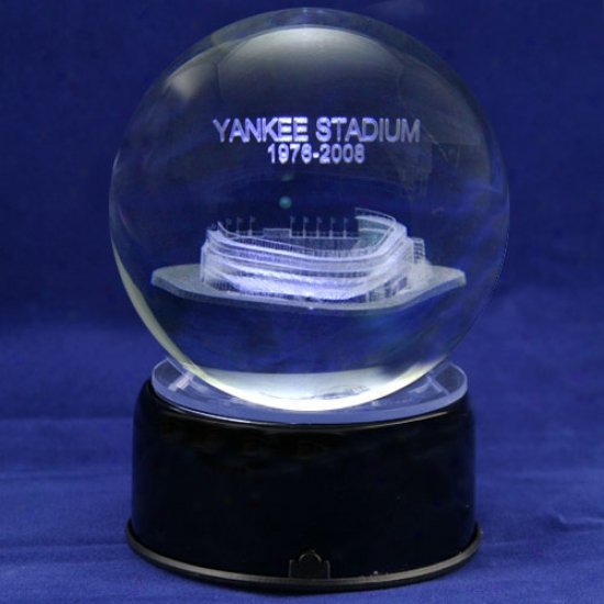 New York Yankees Baseball Stadium 3d Laser Globe