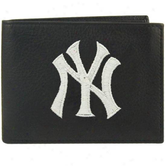 New York Yankees Black Embroidered Billfold