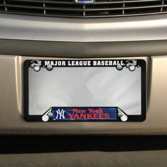New York Yankees Black Plastic License Plate Frame
