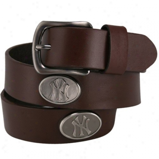 New York Yankees Brown Leather Concho Constraint