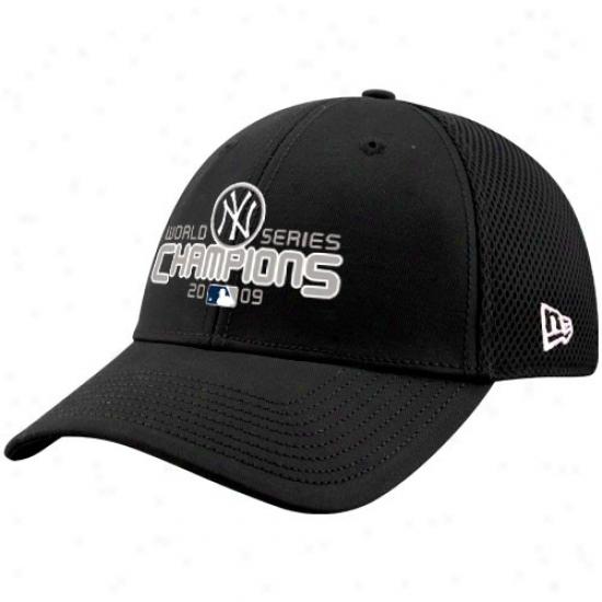 New York Yankees Cap : Nee Era New York Yankees Black 2009 World Series Champions Neo Flex Fit Cap