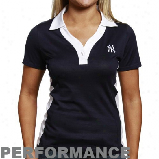 New York Yankees Clothes: Cutter & Buck Just discovered York Yankees Ladies Navy Pedantic  Duet Perforamnce Polo