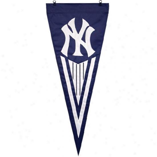 New York Yankees Flags : New York Yankees Navy Dismal Premium Quality Pendant