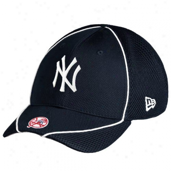 New York Yankees Hat : New Era New York Yankees Navy Blue Ne Opus Stretch Fit Hat