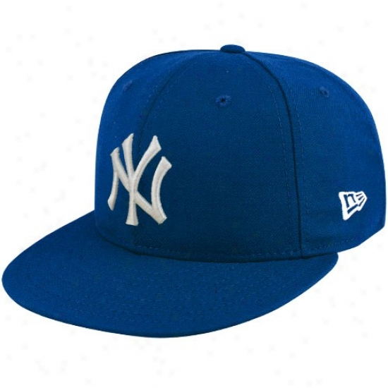 New York Yankees Hats : New Era New York Yankees Royal Blue League Basic Fitted Hats
