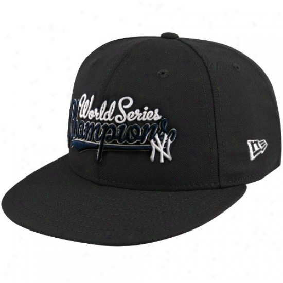 Recent York Yankees Hats : Starting a~ Era New York Yankees Navy Blue 2009 Earth Seties Champions Flat Bill Fitted Hats