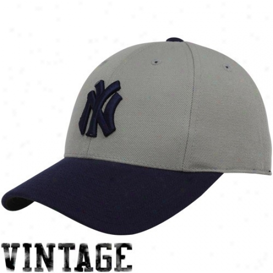 New York Yanjees Hats : New York Yankees Gray-navy Blue 1911 Throwback Cooperstown Fitted Hats
