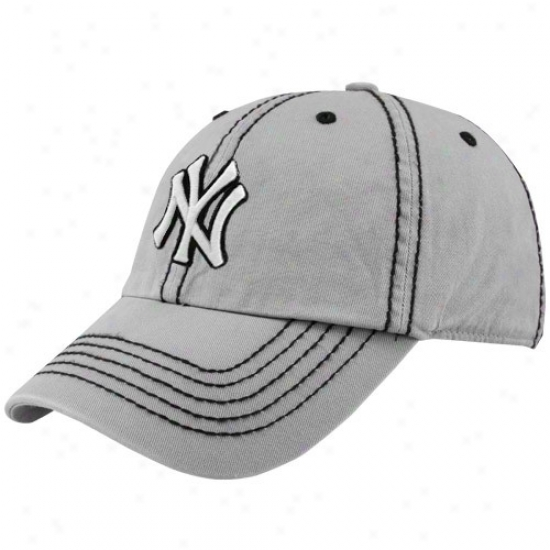 New York Yankees Hats : Twins '47 New York Yankees Gray Patton Franchise Fitted Hats
