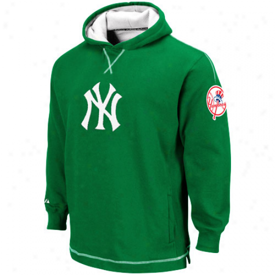New York Yankeea Hoodies : Majestic New York Yankees Youth Green The Liberation Pullover Hoodies