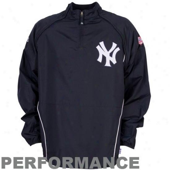 New York Yankees Jackets : Majestic New York Yankees Navy Blue Gamer Performance Jackets